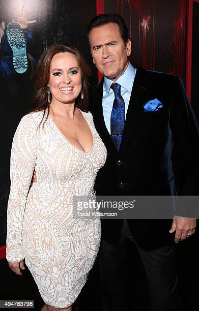 Ida Gearon and Bruce Campbell attend the Premiere Of STARZ's Ash vs Evil Dead at TCL Chinese Theatre on October 28 2015 in Hollywood California