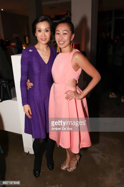 Ida Liu and Niki Cheng attend Niki Shaokao Cheng's Annual Holiday Party at Calligaris SoHo on December 13 2017 in New York City