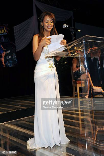 Ida Ljungqvist speaks at the 50 Annual Playmate of the Year dinner where she was named 2009 Playmate of the Year at Palms Hotel Casino on May 2 2009...
