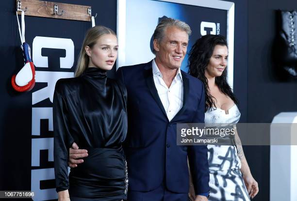 Ida Lundgren Dolph Lundgren Jenny Sandersson attends Creed II New York Premiere at AMC Loews Lincoln Square on November 14 2018 in New York City