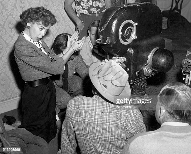 Ida Lupino who divides her time between starring in pictures and directing is now a veteran behind the camera and is one of the technical crew as the...