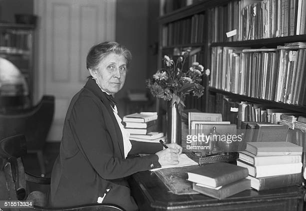 9/20/1921 Ida M Tarbell at her desk She was the investigative journalist and chronicler of American industry famous for her classic The History of...
