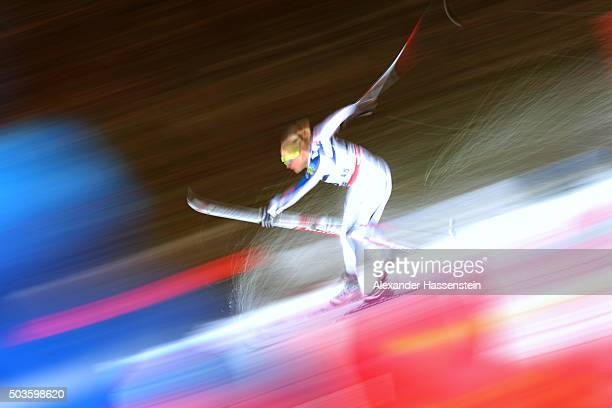 Ida Sargent of the USA competes at the Ladies 10km Mass Start Classic Competition during day 2 of the FIS Tour de Ski event on January 6 2016 in...