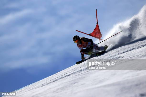 Ida Stimac of Croatia competes during the Ladies' Giant Slalom on day six of the PyeongChang 2018 Winter Olympic Games at Yongpyong Alpine Centre on...