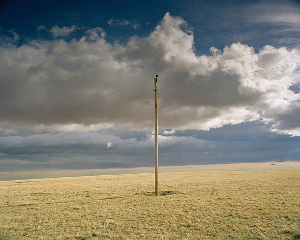 Idaho, Electrical post in plain with clouds