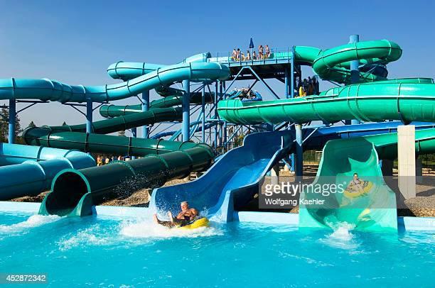 USA Idaho Near Coeur D'alene Silverwood Theme Park Boulder Beach Water Park Water Slides