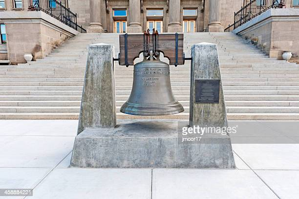 idaho replica liberty bell - liberty bell stock pictures, royalty-free photos & images