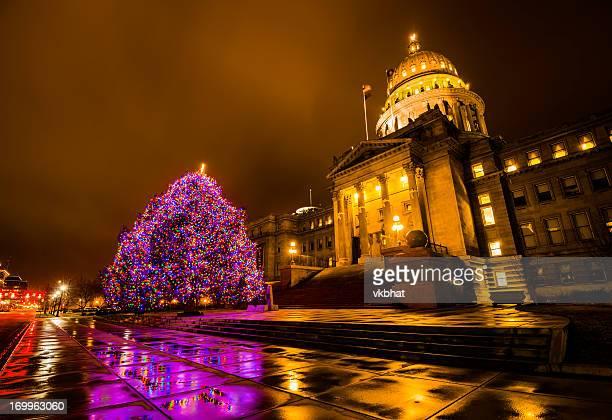 Idaho State Capitol and Christmas tree