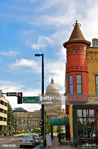 idaho state capitol building & boise cityscape, western usa - 20th century style stock pictures, royalty-free photos & images