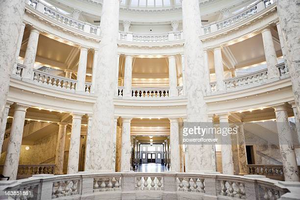 idaho state capitol building - geometrical architecture stock photos and pictures