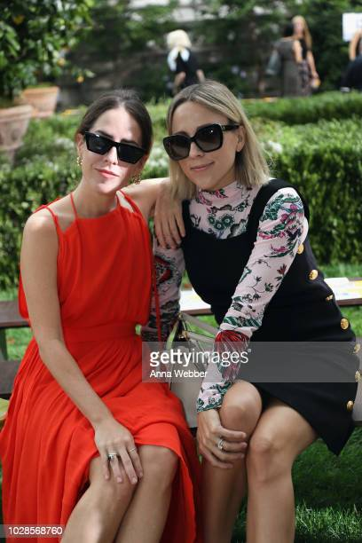 Idalia Salsamendi and Jacey Duprie attend the Tory Burch Spring Summer 2019 Fashion Show at Cooper Hewitt Smithsonian Design Museum on September 7...