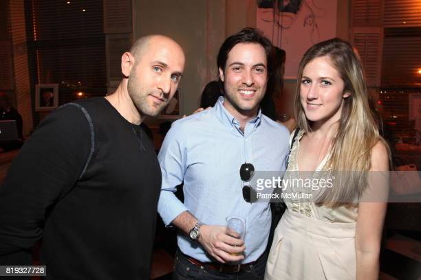 Idan Rabin Ari Goldberg and Michelle Halpern attend Party to Kickoff the 75th Anniversary of JACK PURCELL at The Jane Hotel on April 8 2010 in New...