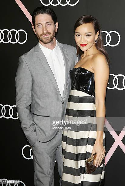 Iddo Goldberg and Ashley Madekwe arrive at the Audi Golden Globe 2014 kick off cocktail party held at Cecconi's Restaurant on January 9 2014 in Los...