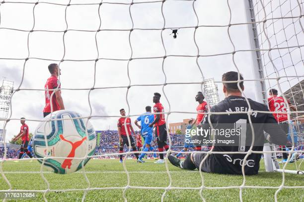 Iddrisu Baba of RCD Mallorca scores during the La Liga match between Getafe CF and RCD Mallorca at Coliseum Alfonso Perez on September 22 2019 in...