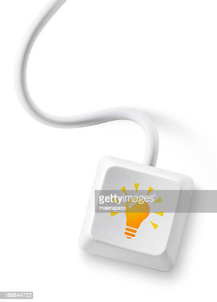 Idea. Computer key with cable