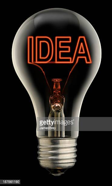 Idea Light Bulb With Clipping Path