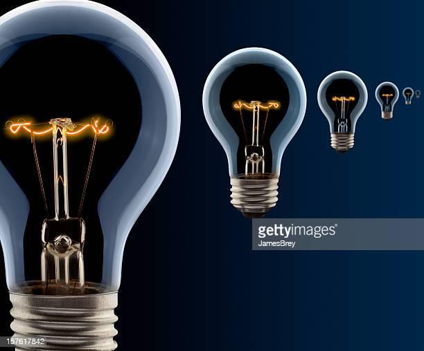 アイデア電球、消失点の視点