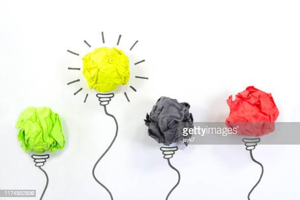 ideas lightbulb - 処刑 ストックフォトと画像