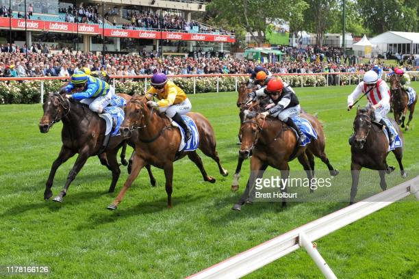 Ideas Man ridden by Mark Zahra wins the Inglis Banner at Moonee Valley Racecourse on October 26 2019 in Moonee Ponds Australia