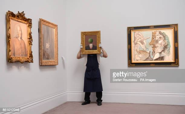 L'idee by Rene Margritte and Le Peintre by Pablo Picasso go on show at Sotheby's in London today as part of their Summer Sales Season and os hoped tp...