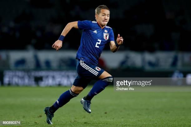 Ideguchi Yosuke in action during the EAFF E1 Men's Football Championship between Japan and China at Ajinomoto Stadium on December 12 2017 in Chofu...
