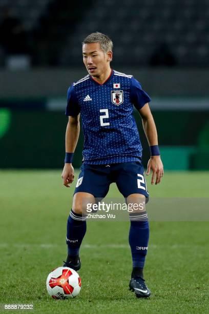 Ideguchi Yosuke of Japan in action during the EAFF E1 Men's Football Championship between Japan and North Korea at Ajinomoto Stadium on December 9...