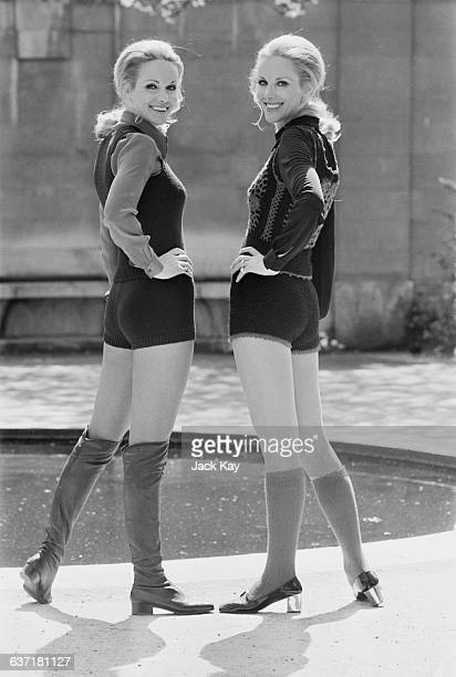 Identical twins Ellen and Alice Kessler make their London debut at the Savoy Hotel UK 2nd May 1971