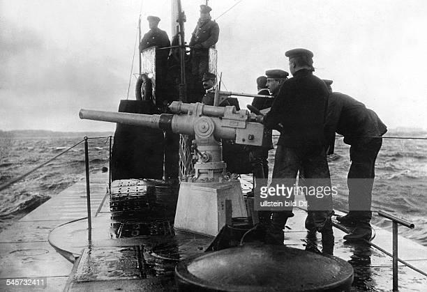identisch mit no 6 Engültige Versenkung eines torpedierten Dampfers mit Hilfe der Schnellfeuerkanone an Deck eines deutschen UBootes Atlantik 1917...