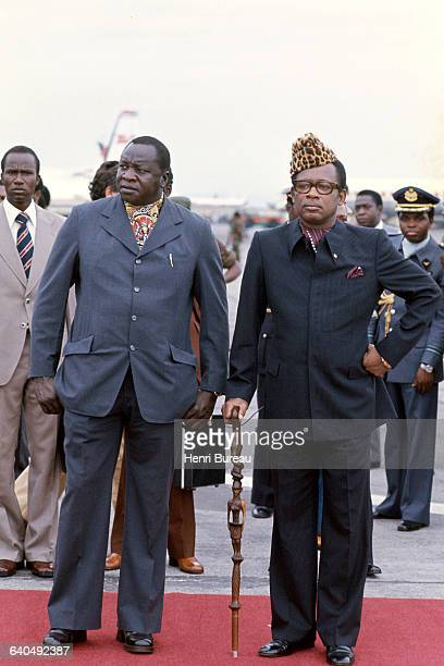 Idi Amin Dada and Mobutu during an official visit to Zaire to announce his alliance with the country