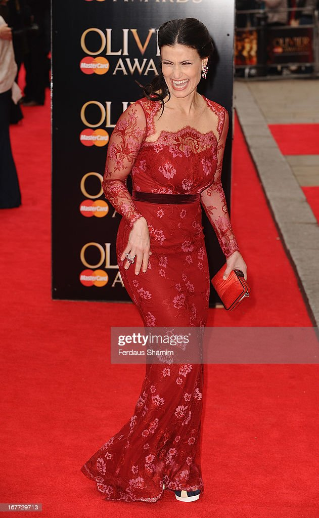 Idina Manzel attends The Laurence Olivier Awards at The Royal Opera House on April 28, 2013 sLondon, England.