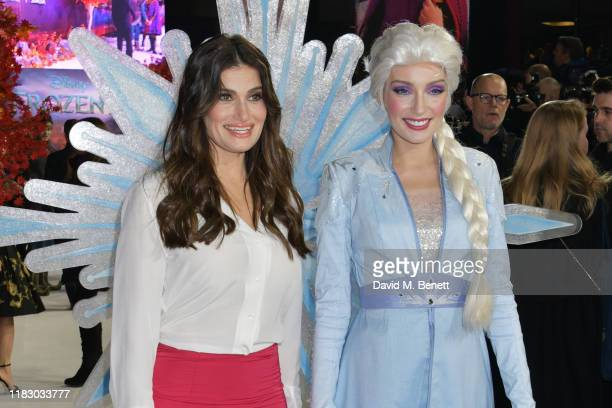 Idina Menzel and Elsa attend the European Premiere of Frozen 2 at the BFI Southbank on November 17 2019 in London England