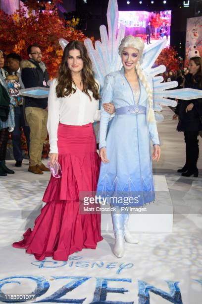 Idina Menzel and Elsa attending the European premiere of Frozen 2 held at the BFI South Bank, London.