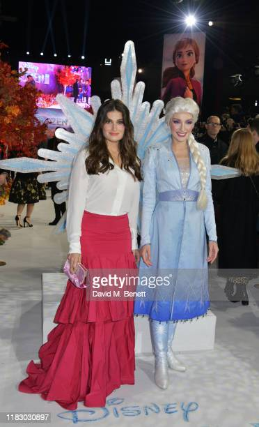 Idina Menzel and Elsa attends the European Premiere of Frozen 2 at the BFI Southbank on November 17 2019 in London England