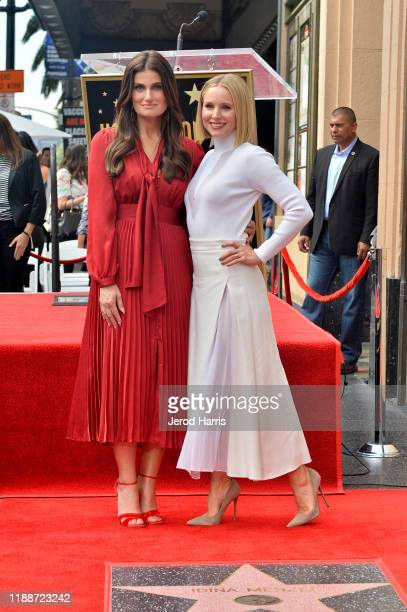 Idina Menzel and Kristen Bell are honored with stars on the Hollywood Walk of Fame on November 19 2019 in Hollywood California