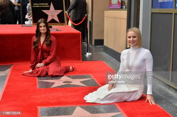 Idina Menzel and Kristen Bell are honored with stars on the Hollywood Walk of Fame on November 19, 2019 in Hollywood, California.