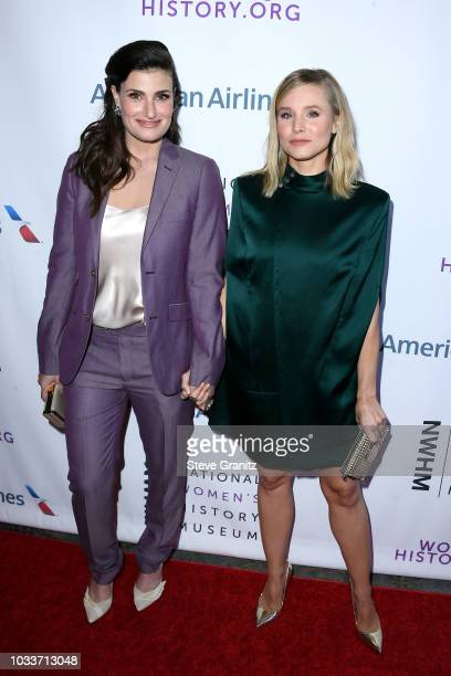 Idina Menzel and Kristen Bell attend National Women's History Museum's 7th Annual Women Making History Awards at The Beverly Hilton Hotel on...