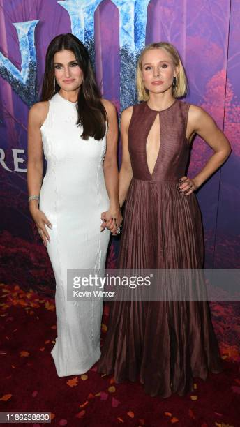 Idina Menzel and Kristen Bell attend the premiere of Disney's Frozen 2 at Dolby Theatre on November 07 2019 in Hollywood California