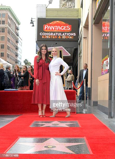 Idina Menzel and Kristen Bell from Disney's FROZEN 2 were each presented with a star on the Hollywood Walk of Fame in a double Walk of Fame ceremony...