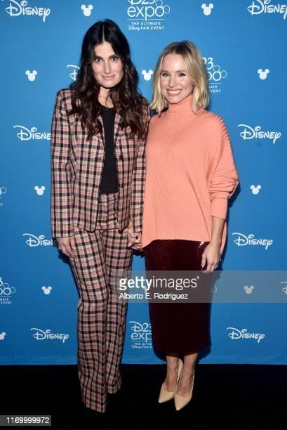 Idina Menzel and Kristen Bell of 'Frozen 2' took part today in the Walt Disney Studios presentation at Disney's D23 EXPO 2019 in Anaheim Calif...