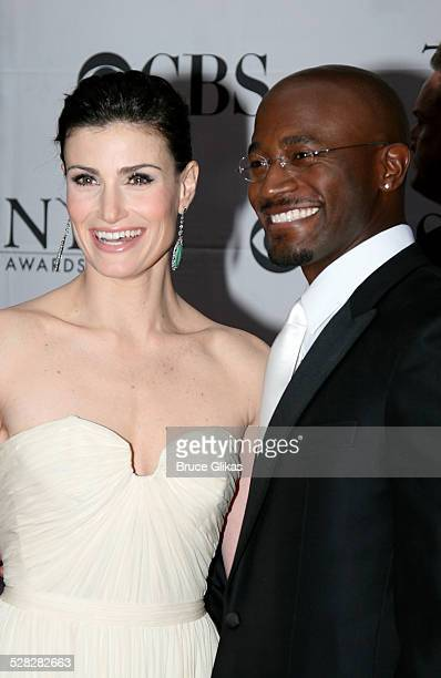 Idina Menzel and Taye Diggs during 61st Annual Tony Awards Arrivals at Radio City Music Hall in New York City New York United States