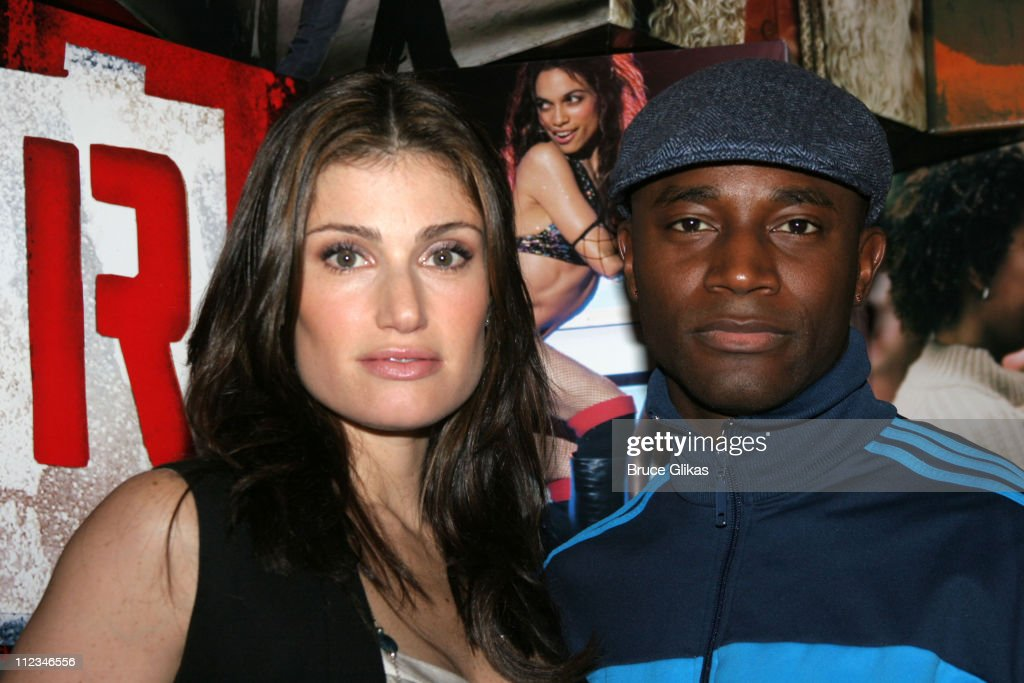Idina Menzel and Taye Diggs during The Cast of 'Rent' In-Store Signing at Virgin Megastore in Times Square - November 14, 2005 at The Virgin Megastore Times Square in New York City, New York, United States.