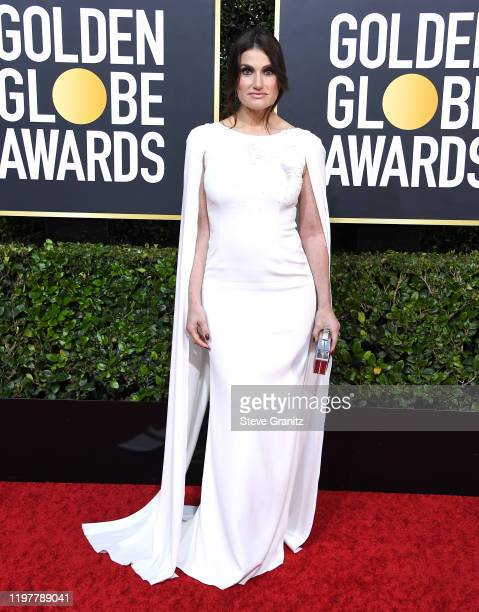 Idina Menzel arrives at the 77th Annual Golden Globe Awards attends the 77th Annual Golden Globe Awards at The Beverly Hilton Hotel on January 05...