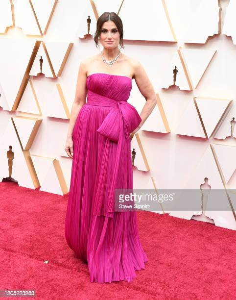 Idina Menzel arrives at the 92nd Annual Academy Awards at Hollywood and Highland on February 09 2020 in Hollywood California