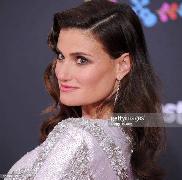 Idina Menzel arrives at the premiere of Disney Pixar's 'Coco' at El Capitan Theatre on November 8 2017 in Los Angeles California