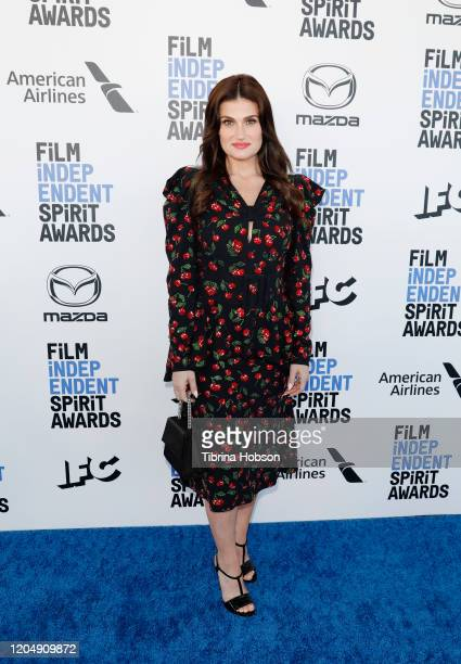 Idina Menzel attends The 2020 Film Independent Spirit Awards with American Airlines at The 2020 Film Independent Spirit Awards on February 08 2020 in...