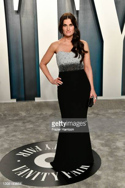Idina Menzel attends the 2020 Vanity Fair Oscar Party hosted by Radhika Jones at Wallis Annenberg Center for the Performing Arts on February 09 2020...