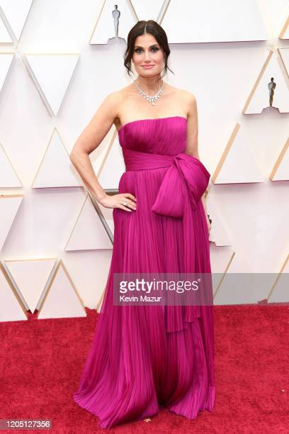 Idina Menzel attends the 92nd Annual Academy Awards at Hollywood and Highland on February 09 2020 in Hollywood California