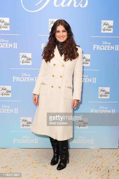 Idina Menzel attends the Disney and Saks Fifth Avenue unveiling of Disney Frozen 2 holiday windows on November 25 2019 in New York City