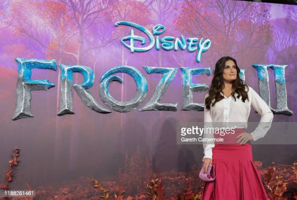 Idina Menzel attends the European Premiere of Disney's Frozen 2 on November 17 2019 in London England
