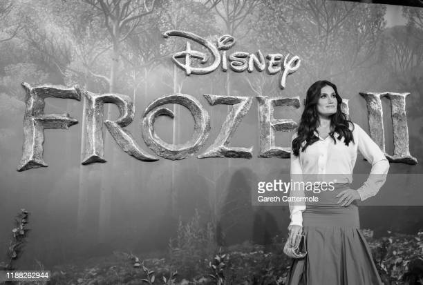 Idina Menzel attends the European Premiere of Disney's Frozen 2 on November 17 2019 in London England